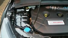 FORD FOCUS HEADERTANK COVER AND CAP CARBON FIBER ABS PLASTIC MK3 RS ST