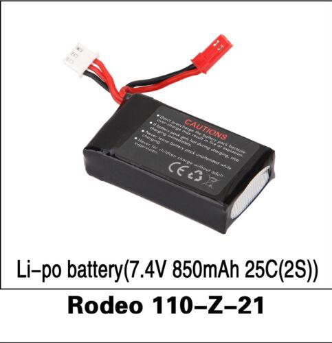 - C14 Rodeo 110-Z-21 Walkera 2S Li-Po Batería 7.4 V 850 mAh 25 C