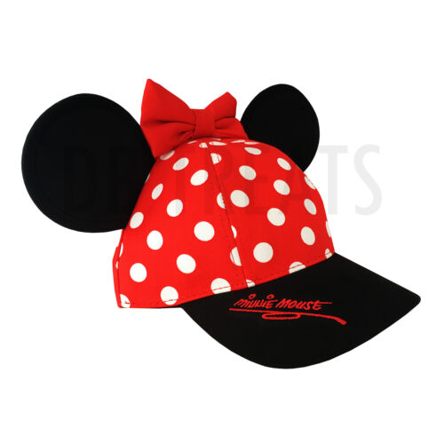 Minnie Mouse Disneyland Polka Dot Snapback Hat with Ears Disney Parks Exclusive