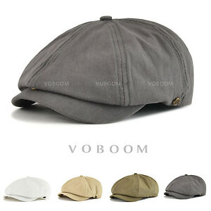 VOBOOM Newsboy Cap Men s Solid Cotton 8 Panel Gatsby Cap Hats Summer ... 902401d6c94