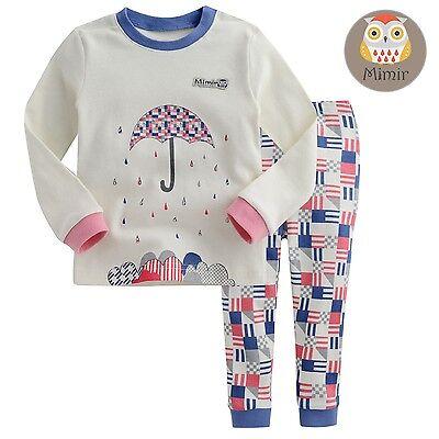 "[Korea] 2pcs Baby Infant Toddler Kid Boy Girl Clothes Sleepwear Pajama""Umbrella"""