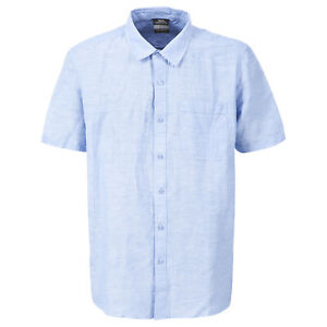 Trespass-Saratov-Mens-Short-Sleeve-Button-Fastening-Cotton-Casual-Summer-Shirt