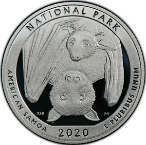 2020-S 25C American Samoa Fruit Bat National Park America the Beautiful Quarter