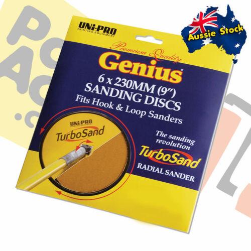 "120 9/"" 180 and 220 Grit 150 Uni-Pro Genius Turbo Sand Discs 6 x 230mm"