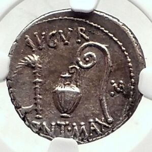 JULIUS-CAESAR-Authentic-46BC-Ancient-Silver-Roman-Coin-THAPSUS-BATTLE-NGC-i72402