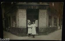 CPA - Coiffeur de Dames Joseph - carte photo à situer - magasin devanture -
