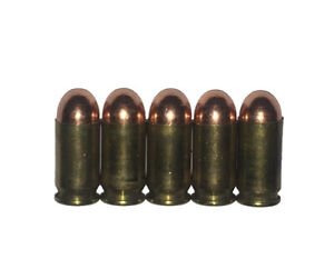 9mm 40 caliber 45 ACP 380 ACP 9x18 Dummy Rounds Snap Caps Firearms Training