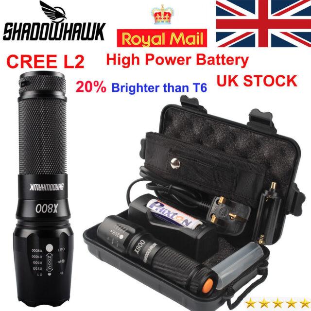 20000LM Genuine Shadowhawk X800 Flashlight XM-L L2 LED Tactical*Military Torch