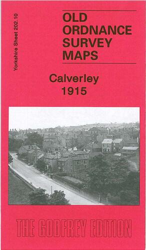 OLD ORDNANCE SURVEY MAP CALVERLEY 1915 VICTORIA PARK HORSFORTH RAWDON LEEDS