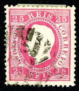 PORTUGAL 1870-1881 USED SCOTT #41, 45E, 54-56 KING LUIZ STAMPS