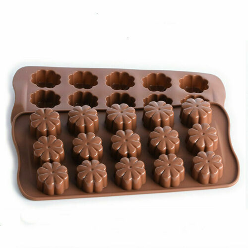 1 Floral Pattern 3D Chocolate Mold Silicone Cake Fondant Candy Baking Mould Tool
