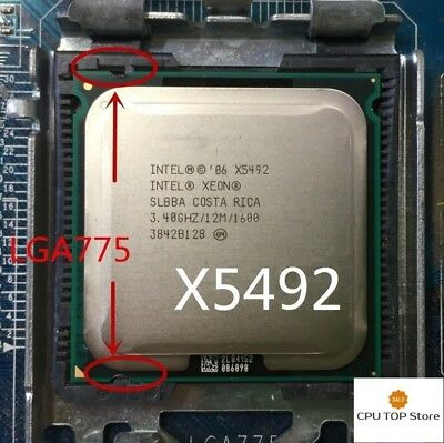Intel Xeon X5492 Quad Core 3 4ghz 12m 1600mhz Lga775 No Need Adapter Ebay