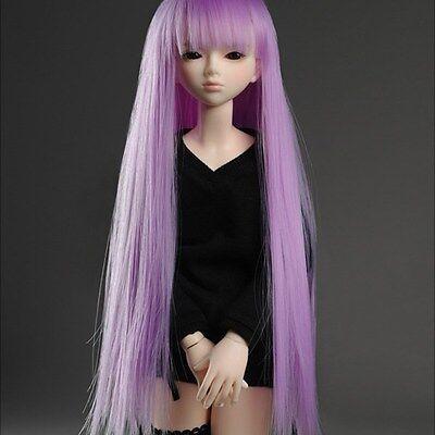 """Dollmore 1/4 BJD OOAK Supplier MSD wig  (7-8)"""" VL Bangs Straight wig (Violet)"""