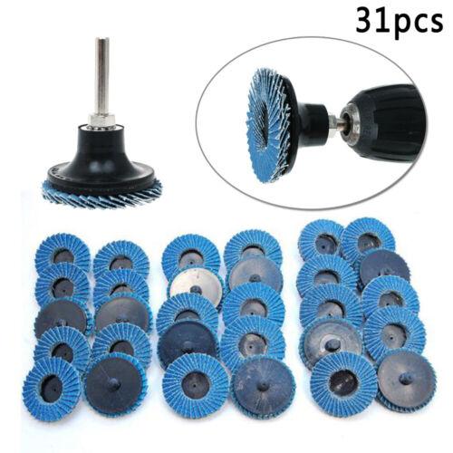 "2/"" Flat Flap Disc Grinding Sanding Wheels 40//60//80 Grit Assorted Mandrel Drill"