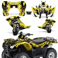 Graphic Kit Honda Rancher 420 Atv Quad Decals Sticker Wrap Parts 07-13 Reap Yllw