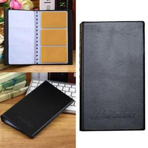 Porte-cartes-de-visite-en-cuir-Range-tout-240-Nom-Carte-de-credit-Tenue-de-livre