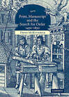 Print, Manuscript and the Search for Order, 1450-1830 by David McKitterick (Paperback, 2005)