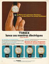 Publicité Advertising 1969  Montre TIMEX électriques