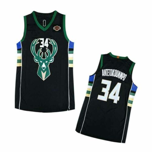 #34 Giannis Antetokounmpo Jersey Milwaukee Bucks Men/'s Swingman Basketball Shirt