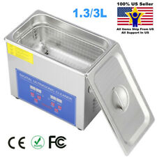 Digital Ultrasonic Cleaner Bath Timer Stainless Tank Jewelry Cleaning 133l Usa
