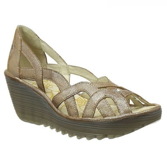 Fly London Women's Yadi Luna Wegde Sandals