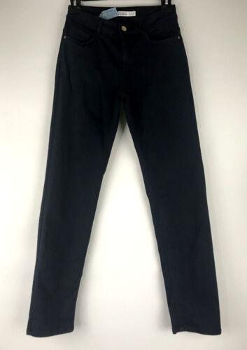Zara Basic Denim Women's Dark Navy Blue Stretch Sk