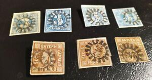 Bayern-Kreuzer-Quadrate-Lot-mit-7-x-2II-4II-mit-deutlichem-gMR-034-243-034-Nuernberg