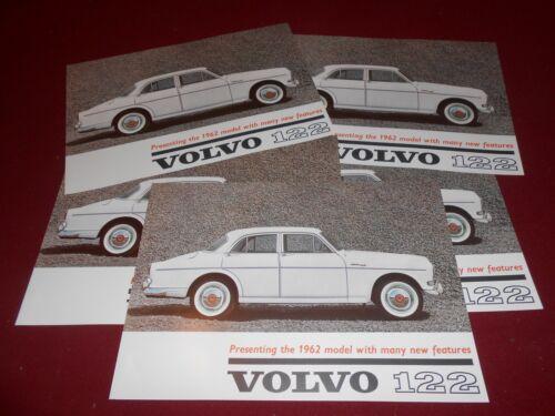 WHOLESALE LOT of 6 ORIGINAL SIX 1962 VOLVO 122 BROCHURE RK 395 62 CATALOG