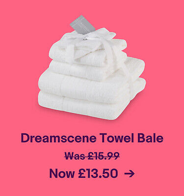 Dreamscene Towel Bale. Was £15.99. Now £13.50.