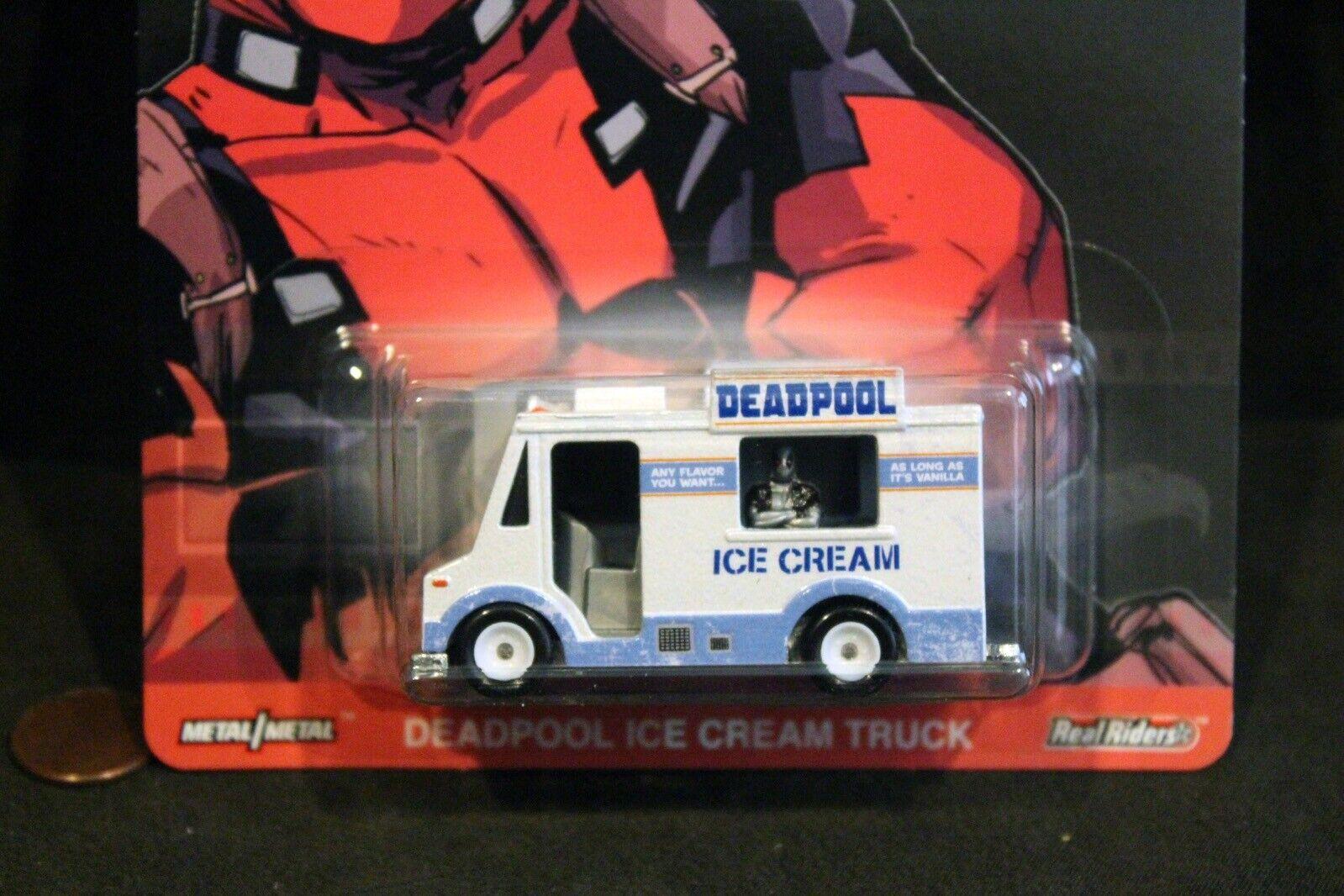 DEADPOOL ICE CREAM TRUCK  HOT WHEELS PREMIUM • Metal//Metal • Real Riders