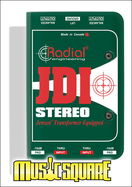 Radial Engineering JDI STEREO Passive Jensen Equipped Direct Box NEW MODEL