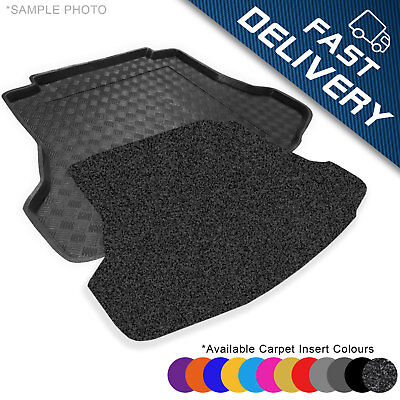 carmats4u Tailored Boot Liner//Tray//Mat for 508 Saloon 2011-2018 /& Anti-Slip Grey Carpet