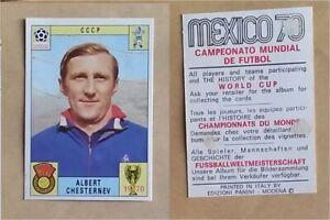 Figurine-Calciatori-Panini-Mexico-70-stickers-CCCP-Chesternev-Rare