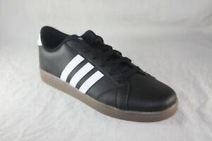 adidas-Kids-039-Baseline-BLACK-WHITE-GUM-BOTTOM-B43874-SIZE-6-5-TENNIS-SHOE