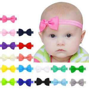 4X Elastic Bowknot Bow Tie Newborn Baby Headband Hairband Head Band Ornaments H