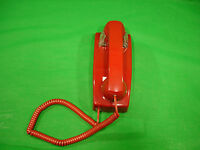 2554 Style No Dial Wall Phone Hotel Lobby Telephone Red