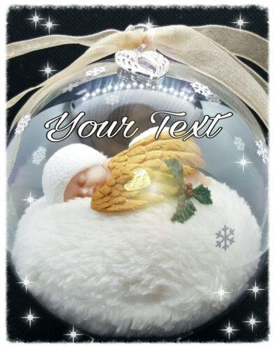 MEMORIAL GLOBE MISCARRIAGE PERSONALISED. INFANT LOSS CHRISTMAS ANGEL BABY
