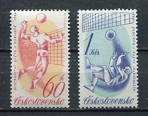 37149) Czechoslovakia 1966 MNH Volleyball Ch. 2v
