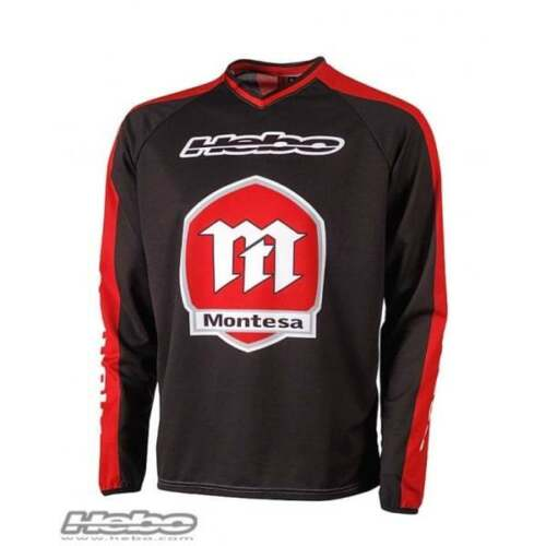 Hebo Montesa Baggy Trials Motorcycle Motor Bike Shirt Jersey Black// Red