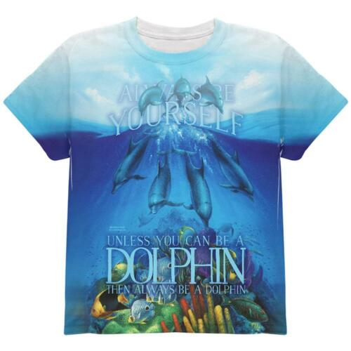 Always Be Yourself Unless Dolphin All Over Youth T Shirt