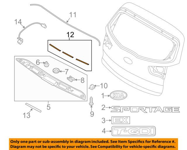 Kia Oem Sportage Liftgate Tailgate Hatch