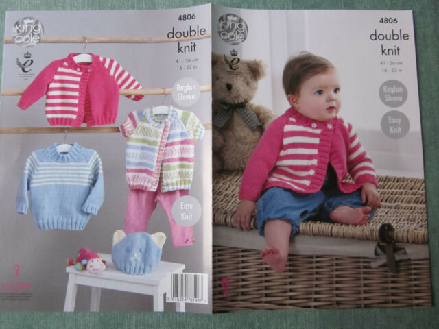 PATTERN ONLY. King Cole pattern 4806.  Cardigans, Sweater & Hat
