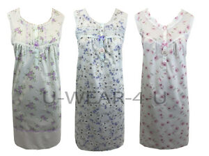 LADIES-MARKS-amp-SPENCER-SLEEVELESS-NIGHTDRESS-NIGHTIE-M-amp-S-COLLECTION-FLORAL