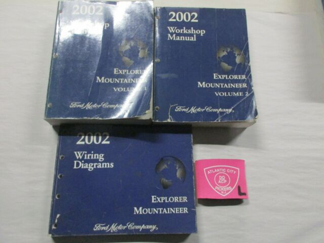 2002 Ford Explorer    Mercury Mountaineer Service Manuals