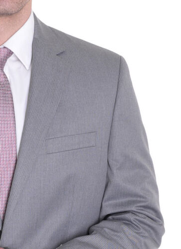 Izod Gray Pinstriped Classic Fit Two Button Blazer Sportcoat 44L