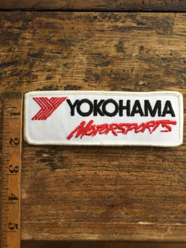 """Vtg Yokohama Motorsports Embroidered Sew On Patch Indy Racing Tires Badge 6"""""""