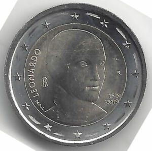 2-Euros-Italia-2019-1-Leonardo-da-Vinci-Emision-n-25