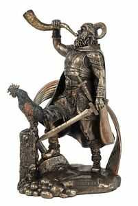 9-1-2-034-Viking-Norse-Mythology-Heimdall-Watchman-of-the-Gods-Statue-Bronze-Finish