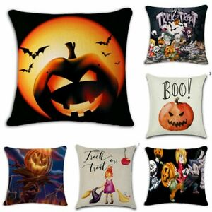 Halloween-Case-Cushion-Pillow-Cover-Linen-Decor-Witch-Waist-Castle-Sofa-Throw