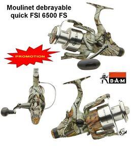1-Moulinet-Debrayable-D-A-M-Quick-FSI-6500-FS-camou-lt-lt-Carpe-Carnassier-gt-gt